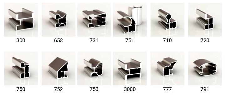 Алюминиевые профили для дверей купе производителя Раум Плюс