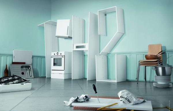 нереальная сборка кухонной мебели IKEA