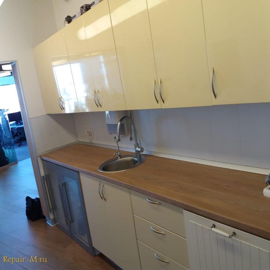замена столешницы на офисной кухне