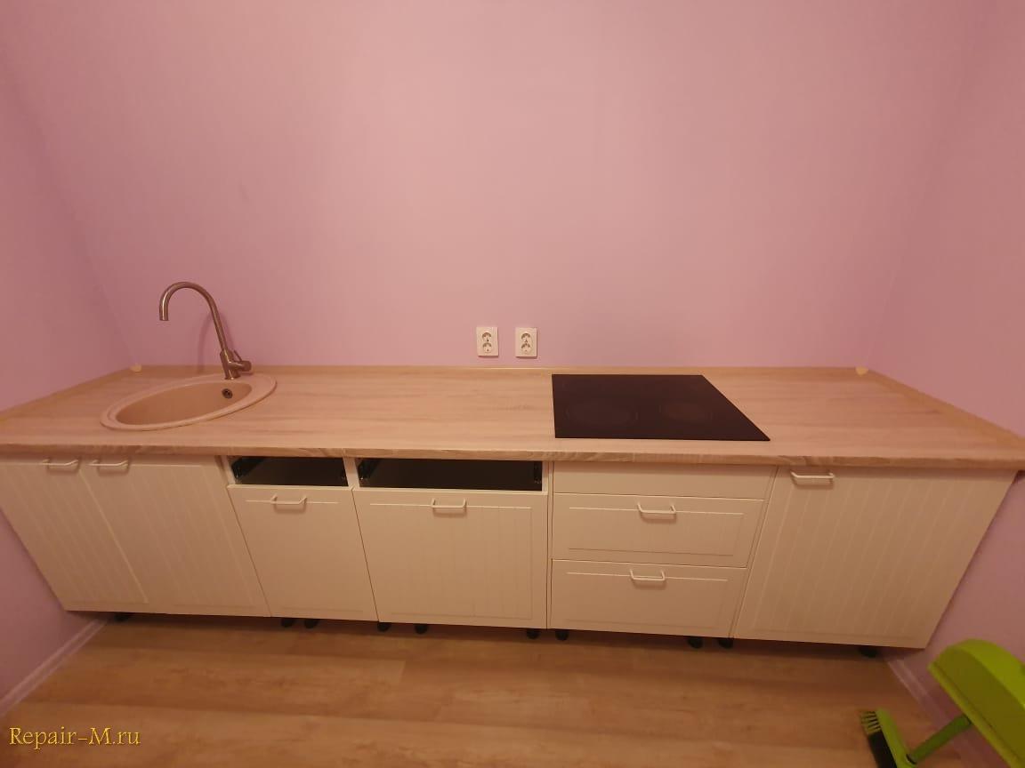 Поменять старую столешницу на кухне в Центральном районе СПб.