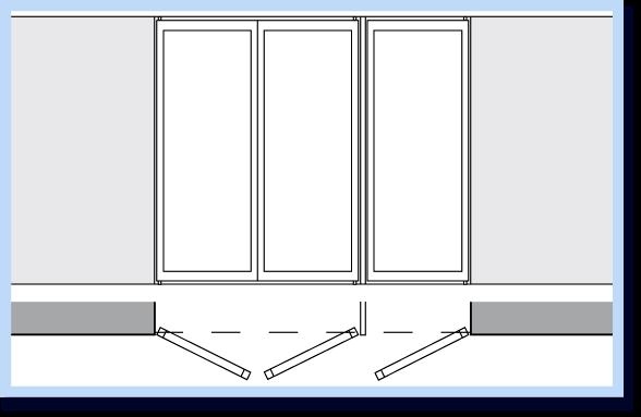 Распашные двери в стальном профиле