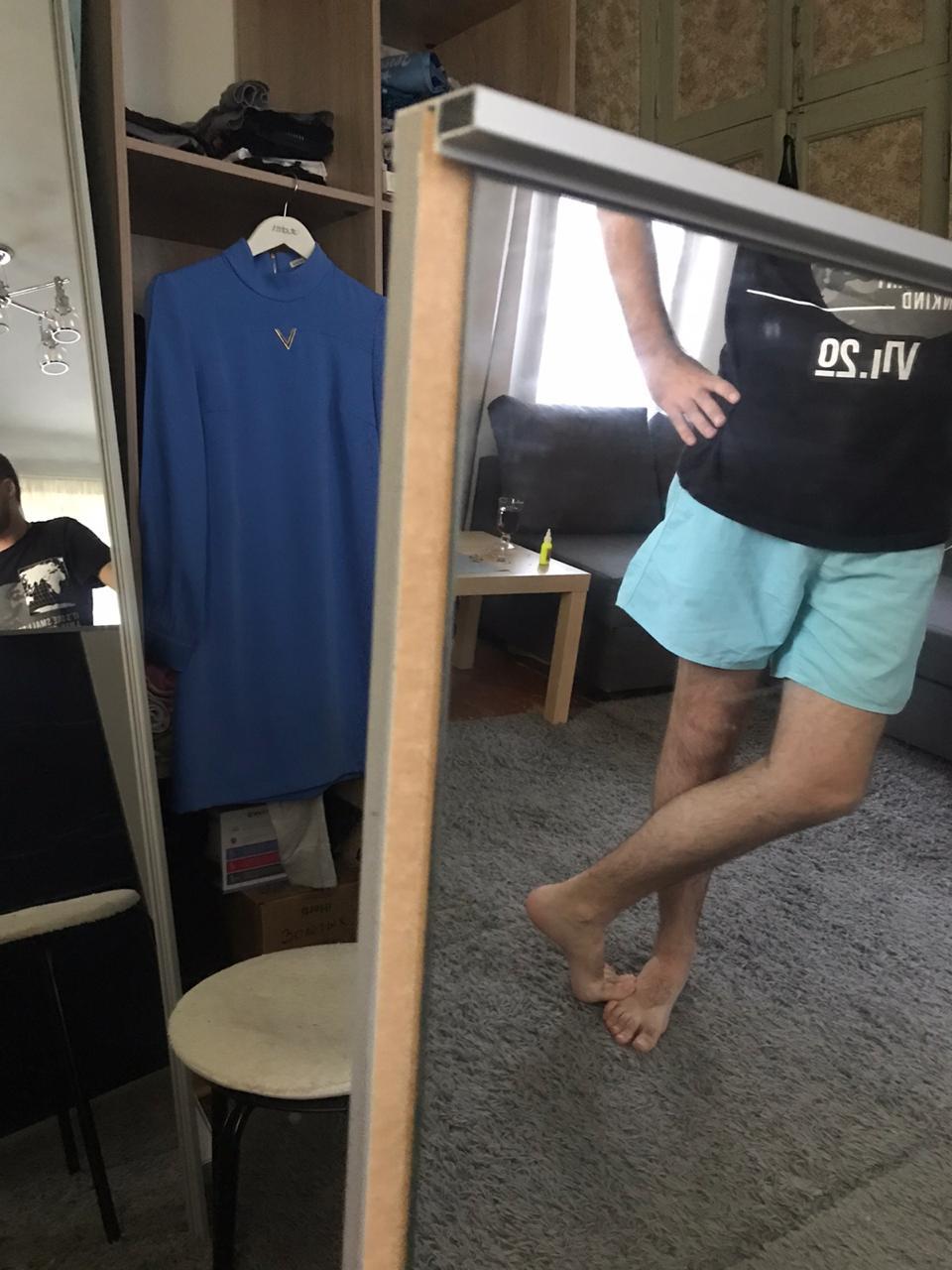 сползло зеркало на двери шкафа купе